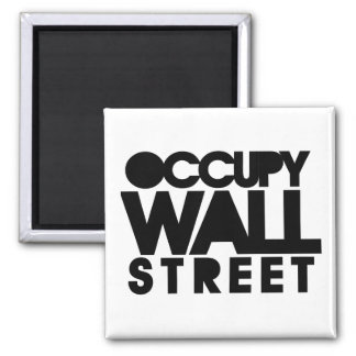 Occupy Wall Street 2 Inch Square Magnet