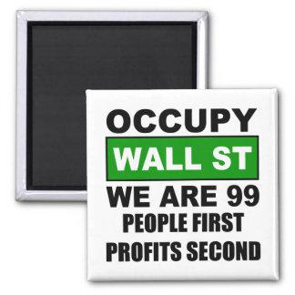 Occupy Wall Street Fridge Magnet