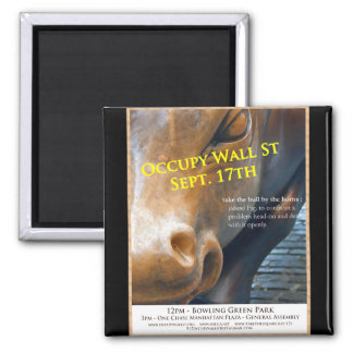 Occupy Wall Street Original Flyer 2 Inch Square Magnet