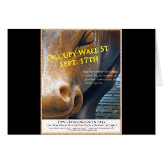Occupy Wall Street Original Flyer Greeting Card