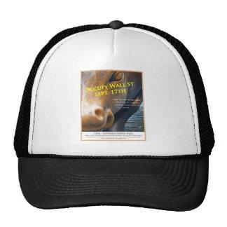 Occupy Wall Street Original Flyer Trucker Hats