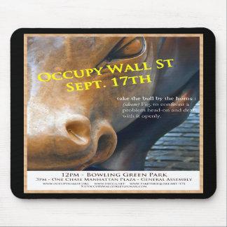 Occupy Wall Street Original Flyer Mousepad