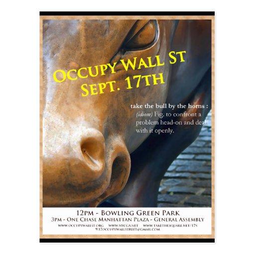 Occupy Wall Street Original Flyer Postcards