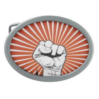 Occupy Wall Street Oval Belt Buckle