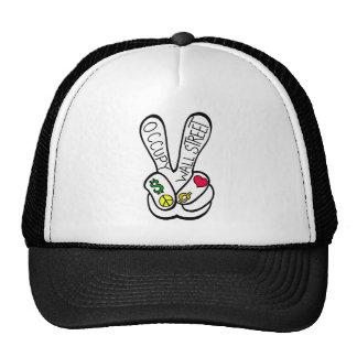 Occupy Wall Street Peace Trucker Hats