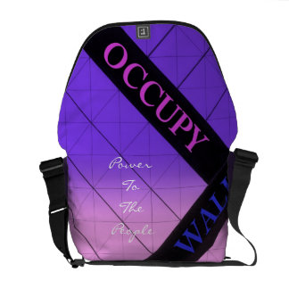 occupy wall street power to the people messenger bag