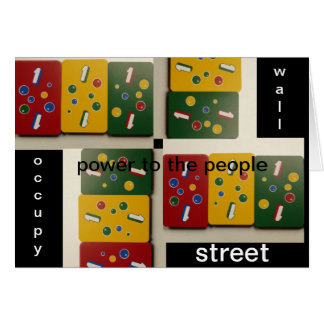occupy wall street power to the poeple greeting card