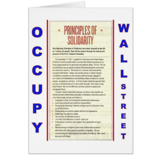 Occupy Wall Street Principles of Solidarity Greeting Card
