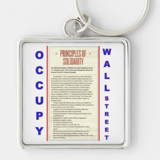 Occupy Wall Street Principles of Solidarity Keychain