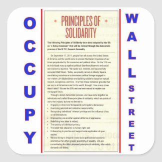 Occupy Wall Street Principles of Solidarity Square Sticker