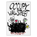 Occupy Wall Street Protest Greeting Card
