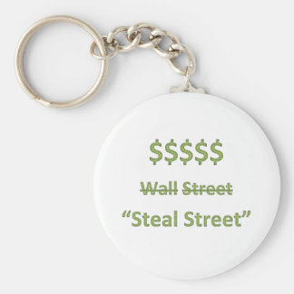 Occupy Wall Street Retro Keychain