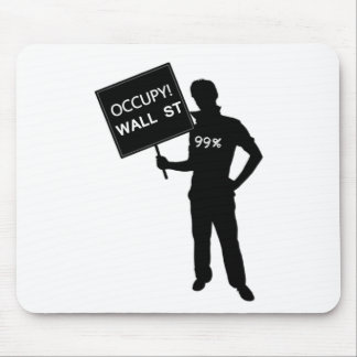Occupy Wall Street Sign Mouse Pad