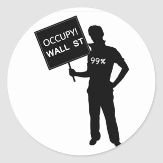 Occupy Wall Street Sign Sticker