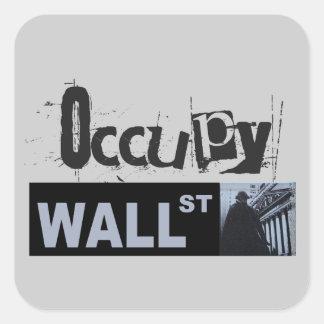 Occupy Wall Street Square Sticker