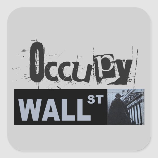 Occupy Wall Street Square Sticker
