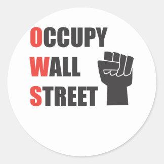 Occupy Wall Street Round Stickers