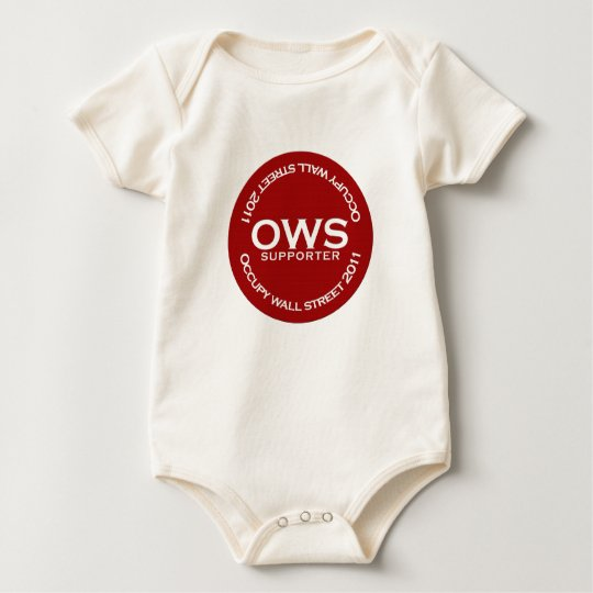 Occupy Wall Street Supporter Baby Bodysuit