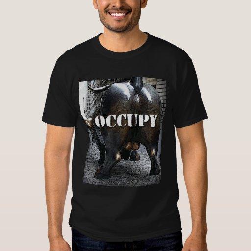 OCCUPY WALL STREET t-shirt BULL