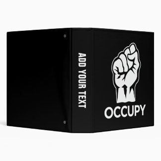 Occupy Wall Street - We are the 99% 3 Ring Binder