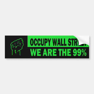Occupy Wall Street, We Are The 99% Car Bumper Sticker
