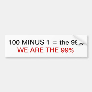 occupy wall street we are the 99% bumper sticker