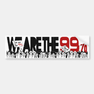 Occupy Wall Street - We are the 99% Car Bumper Sticker