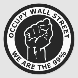 Occupy Wall Street, We Are The 99% Classic Round Sticker