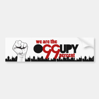 Occupy Wall Street - We are the 99 Percent Bumper Stickers