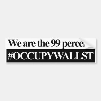 Occupy Wall Street We Are The 99 Percent Bumper Sticker