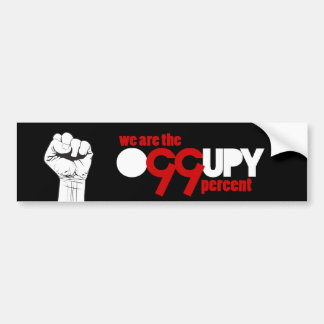 Occupy Wall Street - We are the 99 Percent Car Bumper Sticker