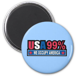 Occupy Wall Street ... We Are The 99% Percent Fridge Magnets