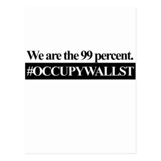 Occupy Wall Street, We Are The 99 Percent. Postcard