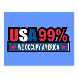 Occupy Wall Street ... We Are The 99% Percent Postcard