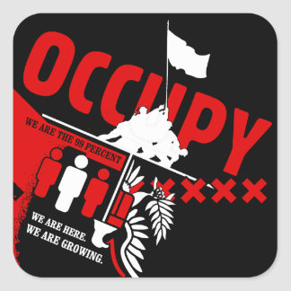 Occupy Wall Street: We are the 99% Square Sticker