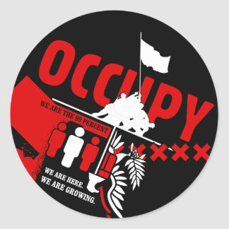 Occupy Wall Street: We are the 99% Classic Round Sticker