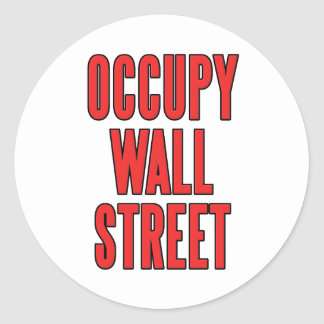 Occupy Wall Street We Are The 99% Classic Round Sticker