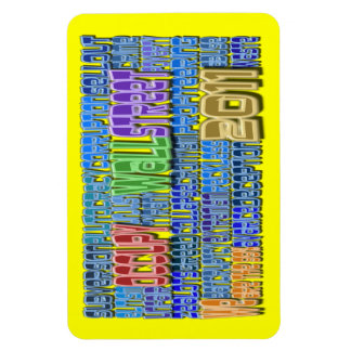 Occupy Wall Street Word Art OWS Design Magnet