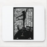 Occupy Wall Street Word Cloud Mouse Pad