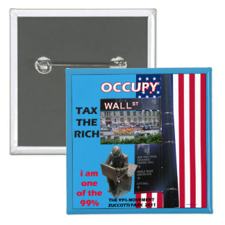 Occupy Wall Street - Zuccotti Park 2011 Button