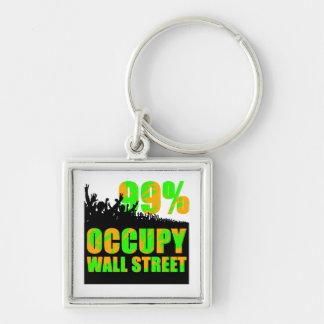occupy wallstreet keychain