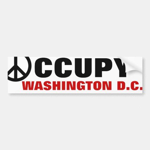 OCCUPY WASHINGTON D.C. BUMPER STICKER
