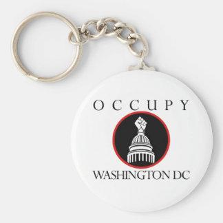 Occupy Washington DC Basic Round Button Keychain