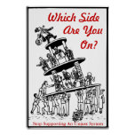 Occupy which side are you on poster from 8.99