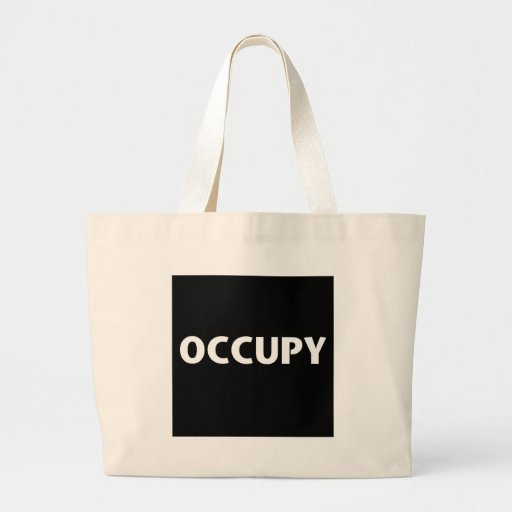 Occupy (White on Black) Canvas Bag
