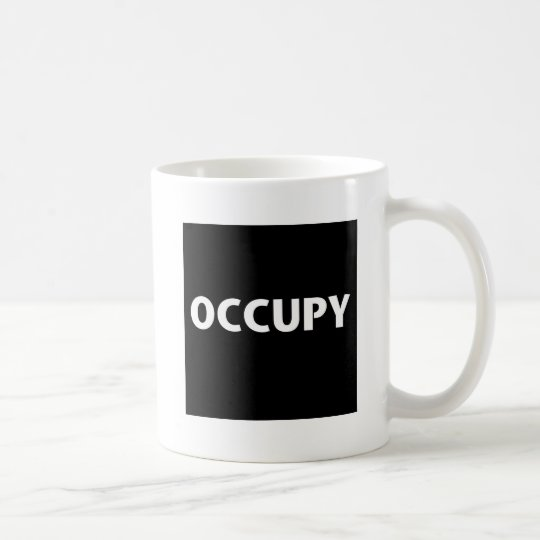 Occupy (White on Black) Coffee Mug