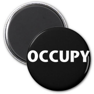 Occupy (White on Black) Magnet