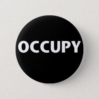 Occupy (White on Black) Pinback Button