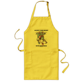 Occupy Your Heart With Happiness (Anatomical) Long Apron
