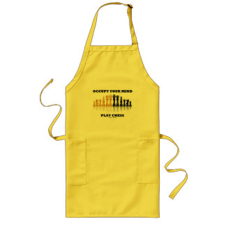 Occupy Your Mind Play Chess (Reflective Chess Set) Long Apron